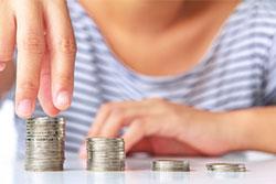 saving money coins